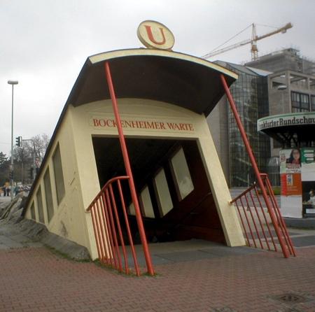 Crashed Train Subway Station