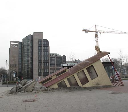 Crashed Tram Subway Station