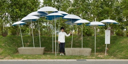 Umbrellas Bus Stop