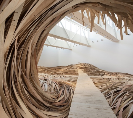 Wooden Ocean Waves