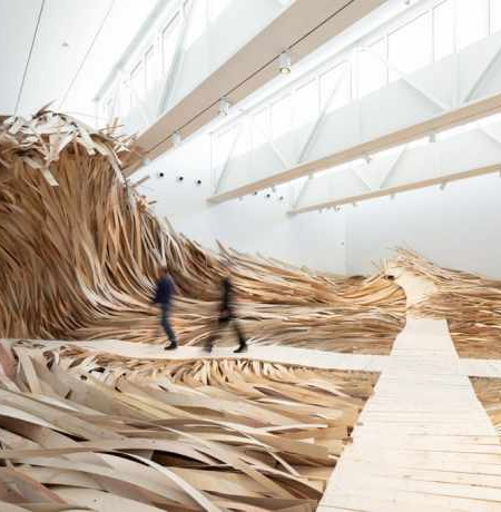 Ocean Waves Made of Wood