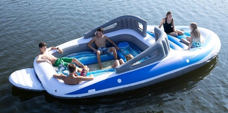 Inflatable Boat Pool Float