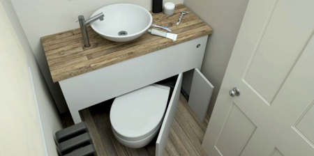 Toilet Under Bathroom Sink