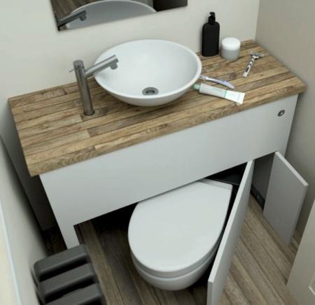 Hidden Bathroom Toilet