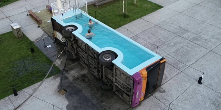 Bus Swimming Pool