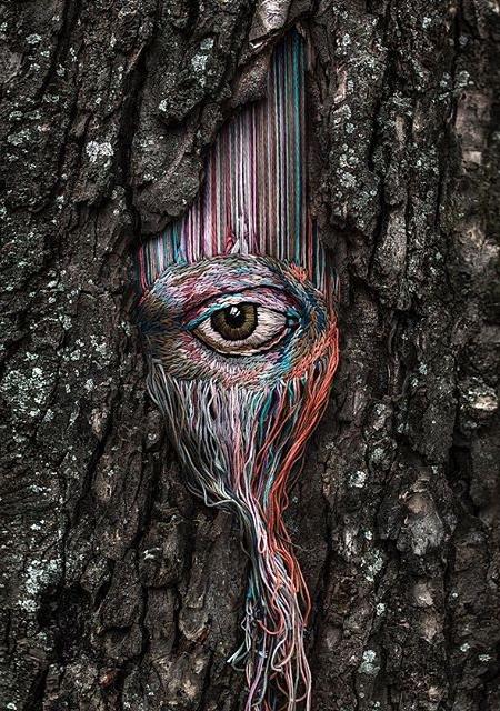 Diana Yevtukh Tree Embroidery