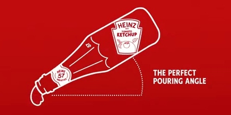 Rotated Heinz Ketchup Label