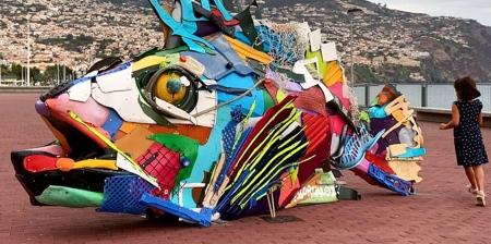 Plastic Waste Sculptures