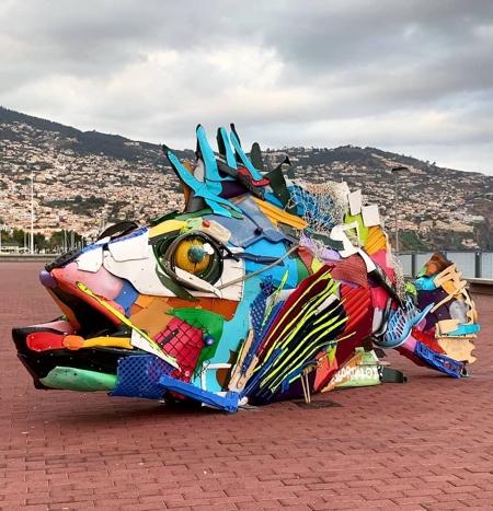 Plastic Waste Sculpture