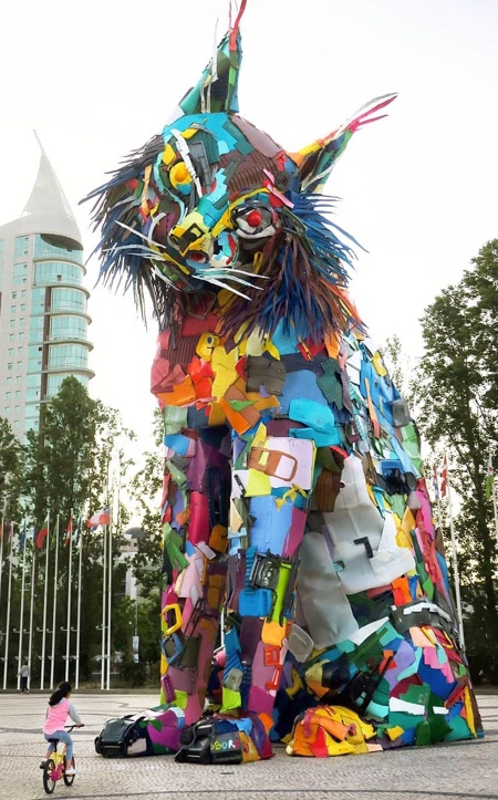 Plastic Trash Sculpture