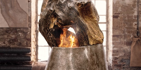 Fireplace Made of Wood