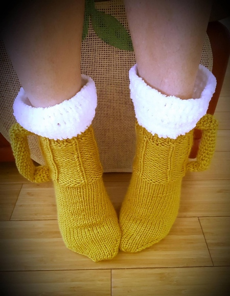 Crochet Beer Mug Socks