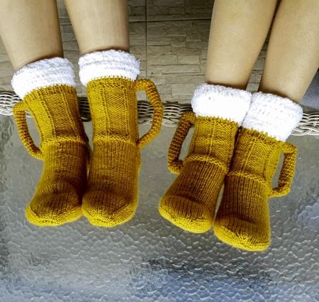 Vicky Djokic Beer Mug Socks