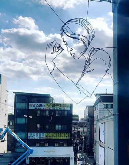 Spenser Little Bent Wire Street Art