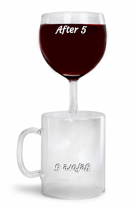 Wine Glass and Coffee Mug