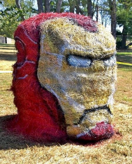 Jean Smith Halloween Hay Art