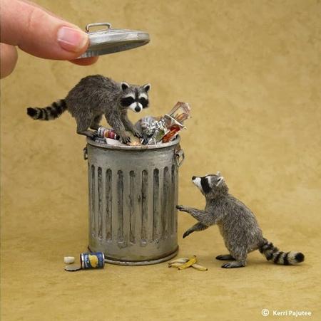 Kerri Pajutee Miniature Animal Sculptures