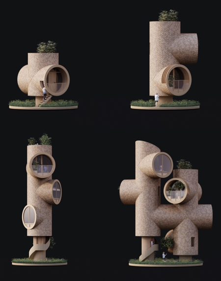 Pipe Treehouses