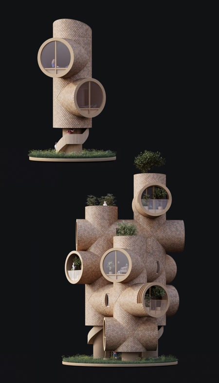Pipe Tree Houses