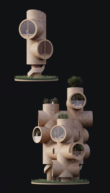 Pipe Tree Houses