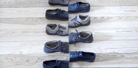 Sliced Arranged Shoes