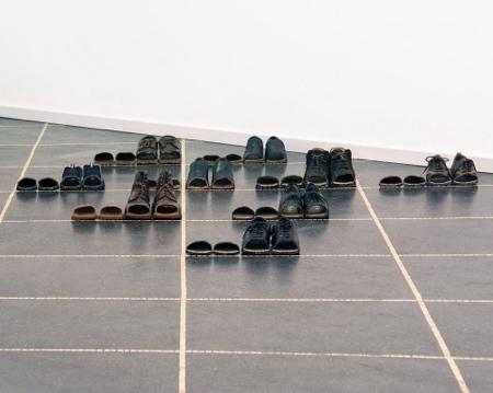 Sakir Gokcebag Sliced Arranged Shoes