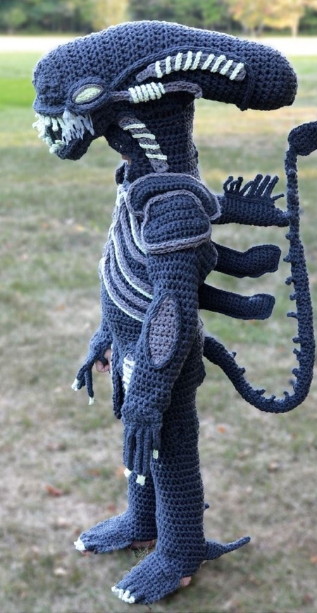 Crocheted Alien Xenomorph Costume
