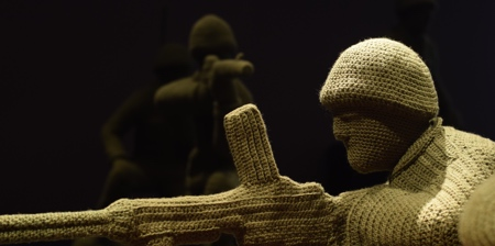 Crocheted Army Men