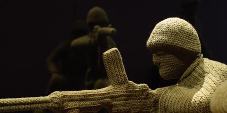 Crocheted Army Men