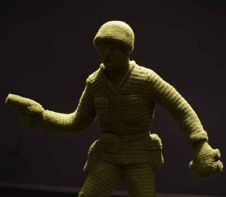 Nathan Vincent Crocheted Army Men