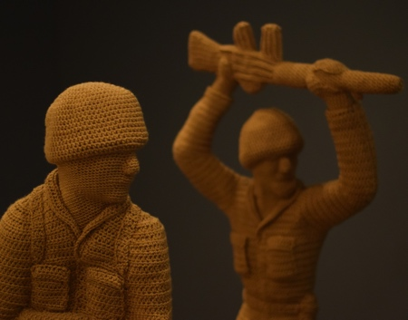 Crocheted Army Men Toy