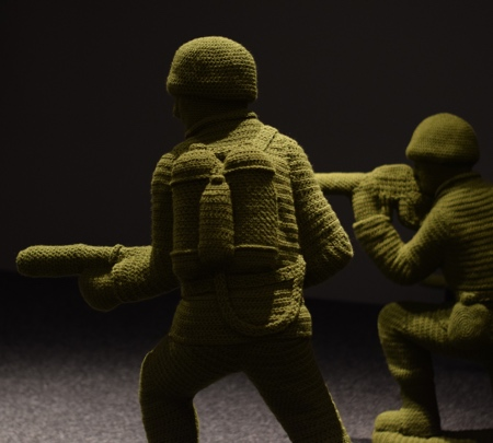 Crocheted Toy Soldier