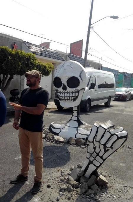 Giant Skeletons Street Art