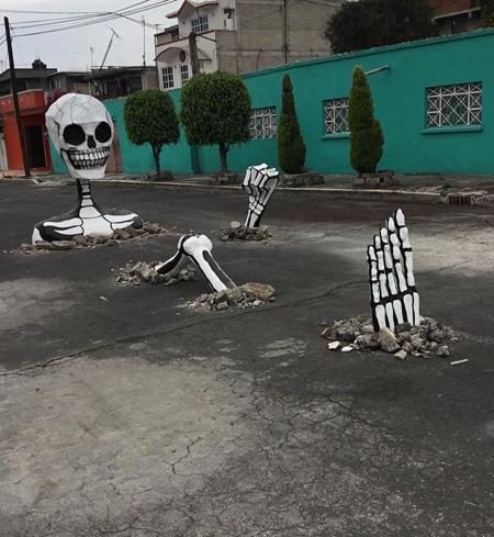 Skeletons Street Art
