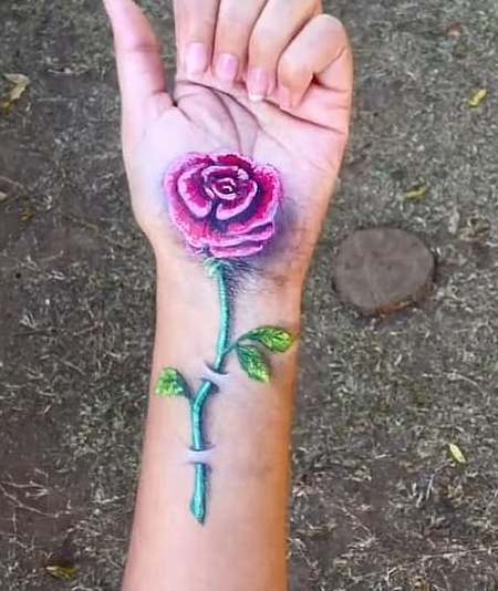 Iantha Naicker Hand Painting