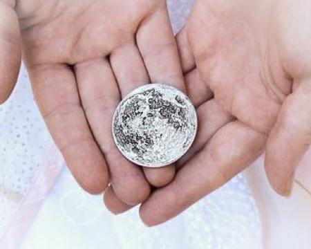 Moon Silver Coin