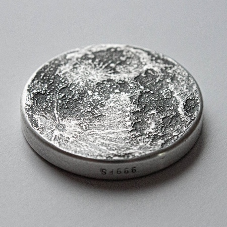 Earth Moon Coin