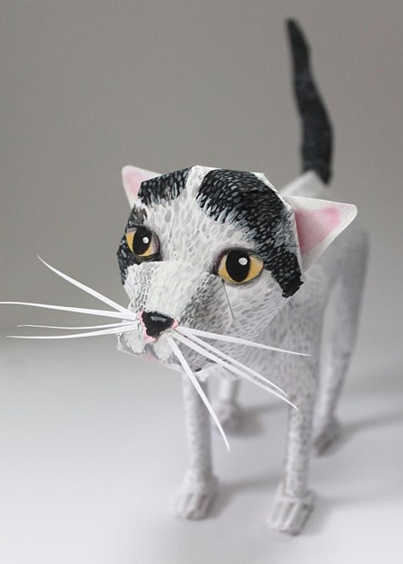 Cats and Dogs Made of Paper