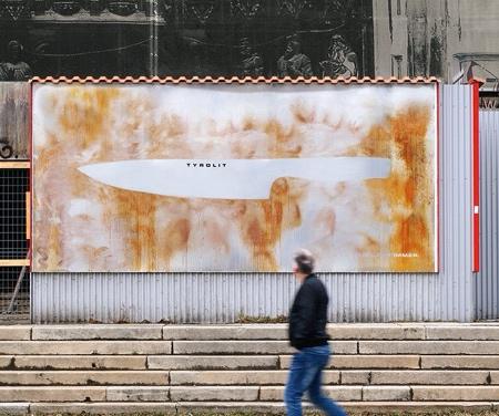 Rusting Knife Billboard
