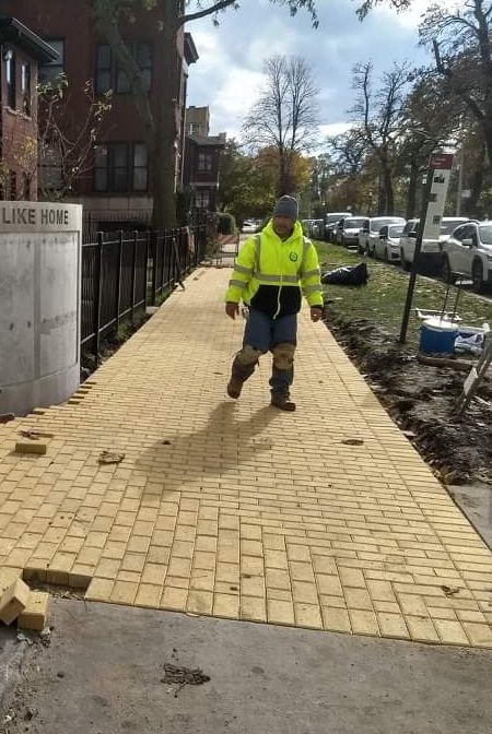 Yellow Brick Road Street Art