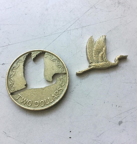 Cut Coins Sculptures