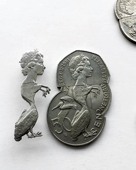 Cut Coins Sculpture