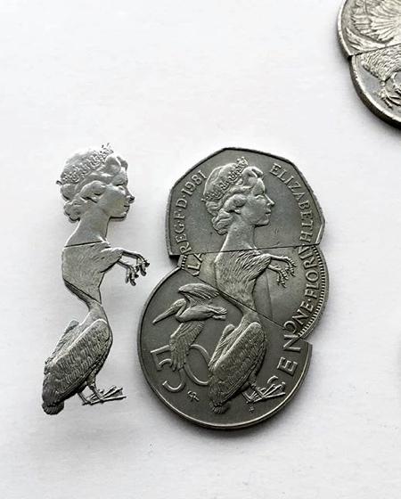 Cut Coins Sculpture