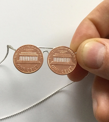 Micah Adams Cut Coins Sculptures