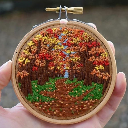 Victoria Rose Embroidery Landscapes