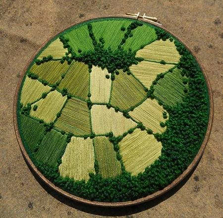 Victoria Rose Embroidery Landscape