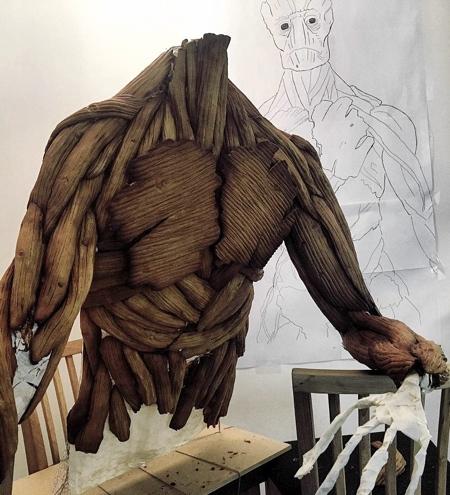 Gingerbread Groot Sculpture