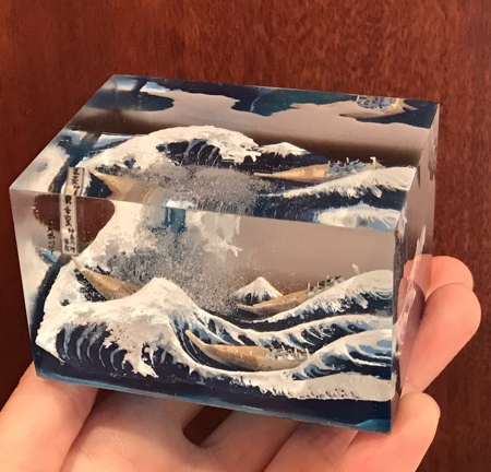 The Great Wave 3D Sculpture
