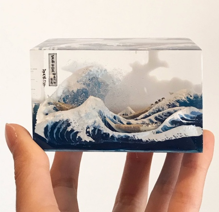 The Great Wave Sculpture