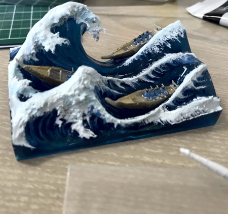 Great Wave 3D Sculpture